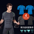 men t shirt short sleeves Body sculpting compression clothing comfortable breathable speed dry tight body shapers crossfit MA06