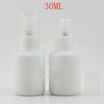 (20PC/Lot)Wholesale 30ml White Glass Spray/Lotion Pump Bottle,30cc Toner/Perfume Bottle,Cosmetic Packaging Container