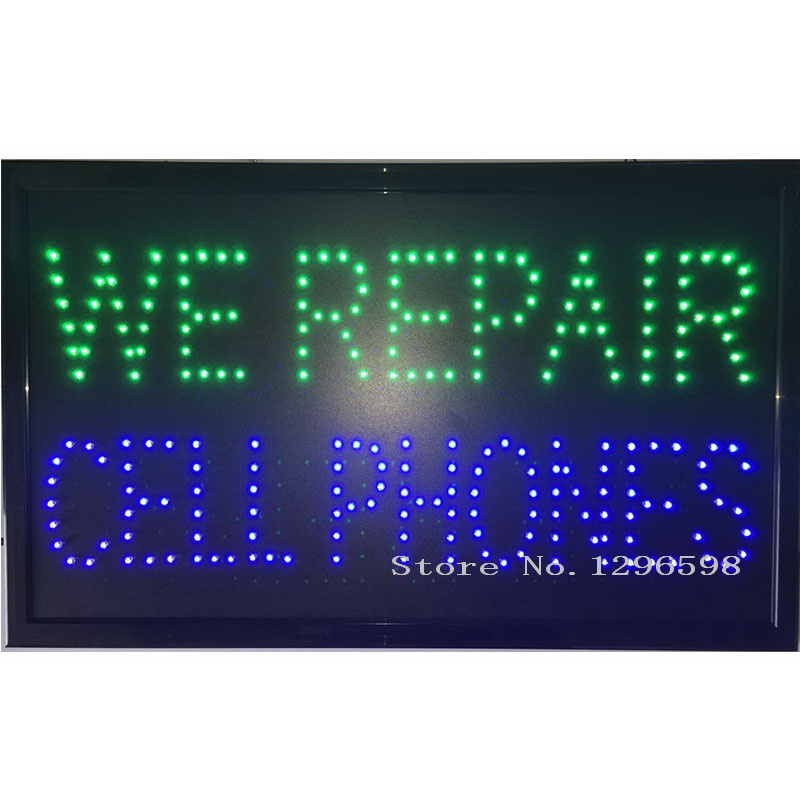 24x13 Inch We Repair Cell Phone Unlock Cellphones Banner Mobile Repair Led Sign Sign Sign Ledsign Banners Aliexpress