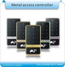 Free shipping high quality metal shell 10 crystal tag+RFID Proximity Card Access Control System RFID/EM  Card Access Controller недорого