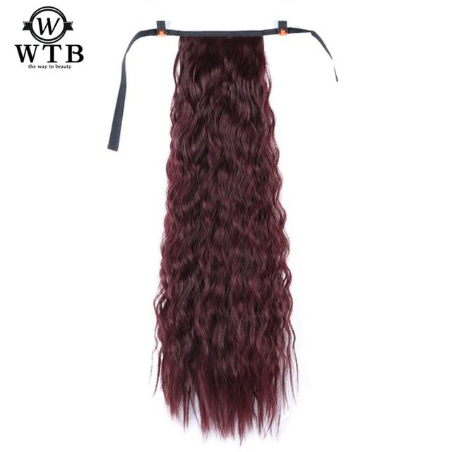 WTB onda Pelo Rizado extensión larga cola de caballo Pelo Rizado largo Cola de Caballo pieza de pelo sintético resistente al calor