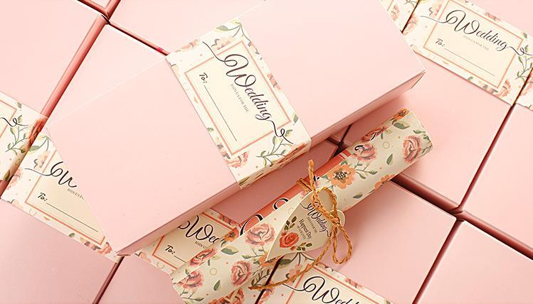 Gift Box Wedding Invitations: Vintage Box Scroll Wedding Invitations Card Personalized