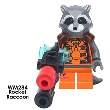 1 Buah Model Blok Bangunan Action Figure Starwars Superhero Infinity War Rocket Racoon Compatibled DIY Mainan untuk Anak-anak Hadiah(China)
