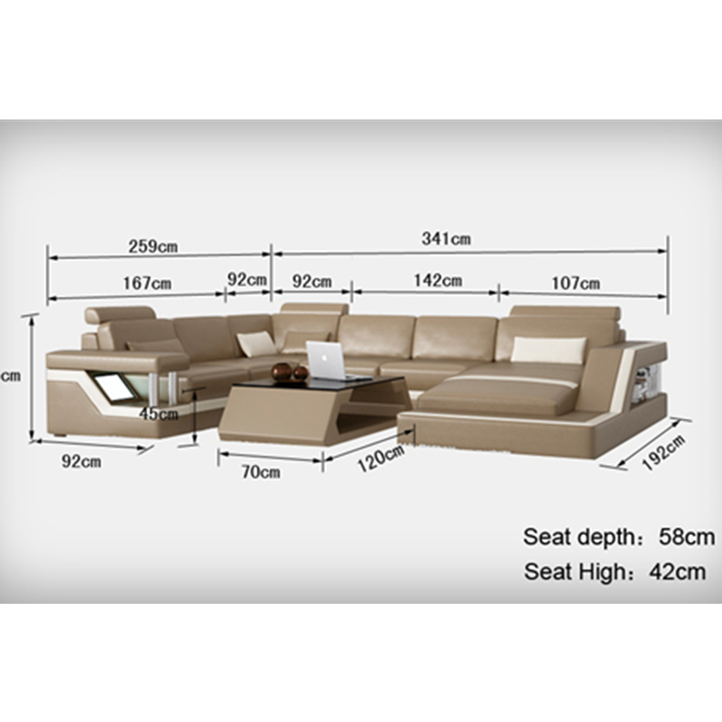 Cheap U Shaped Sofa Low Cost Modern Corner Leather Sofa