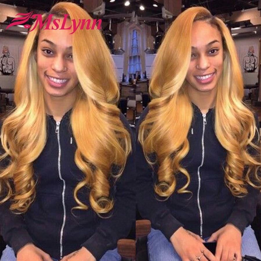 Honey Blonde Brazilian Hair Weave Bundles Color 27 Brazilian Body