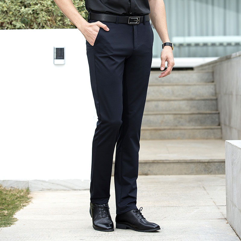 b2ecd8d7c962 Anbican Brand Office Work Black Dress Pants Men Spring Summer Smart ...