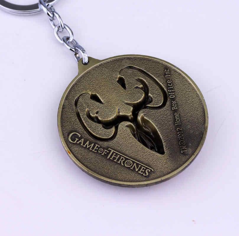 Hot Movie Game Of Thrones Catena Chiave di Casa di Theon Greyjoy Distintivo Logo Portachiavi Ciondolo Gioielli Regali Per Le Donne Uomo Ventole