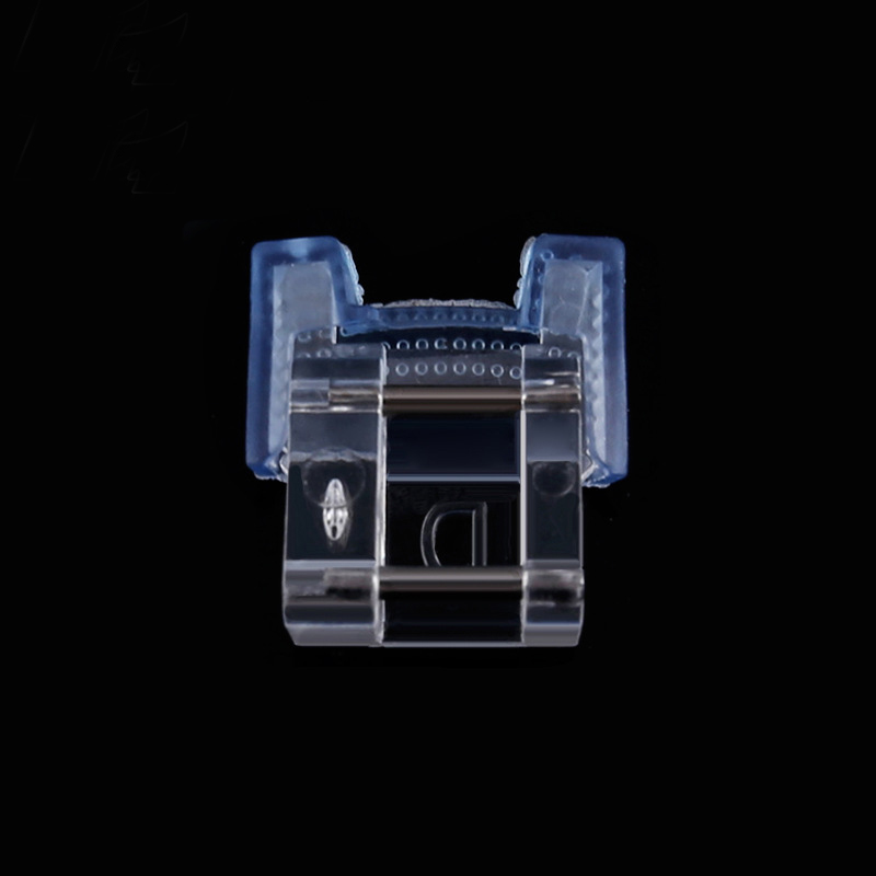 1Pcs Plastic Mosaic Buttons Presser Walking Feet for Home Sewing Machines New Clear Blue Color Nail Button Sewing Machine Foot in Sewing Machines from Home Garden