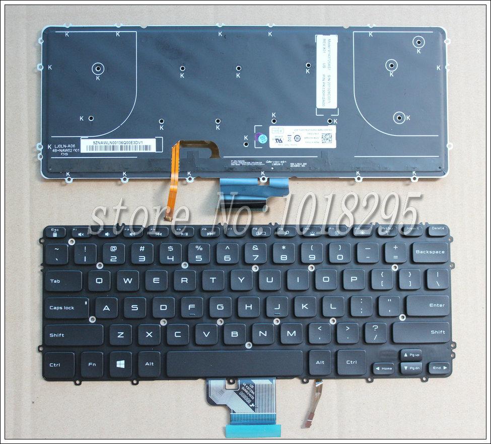 Prix pour Nouveau clavier original pour DELL precision M3800 XPS 15 9530 US version Noir Rétro-Éclairé PN: WHYH8