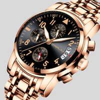 CRRJU Luxury Brand Watches Men Fashion Sport Military Quartz Watch Men Full Steel Business Waterproof Clock Man Relogio Masculin