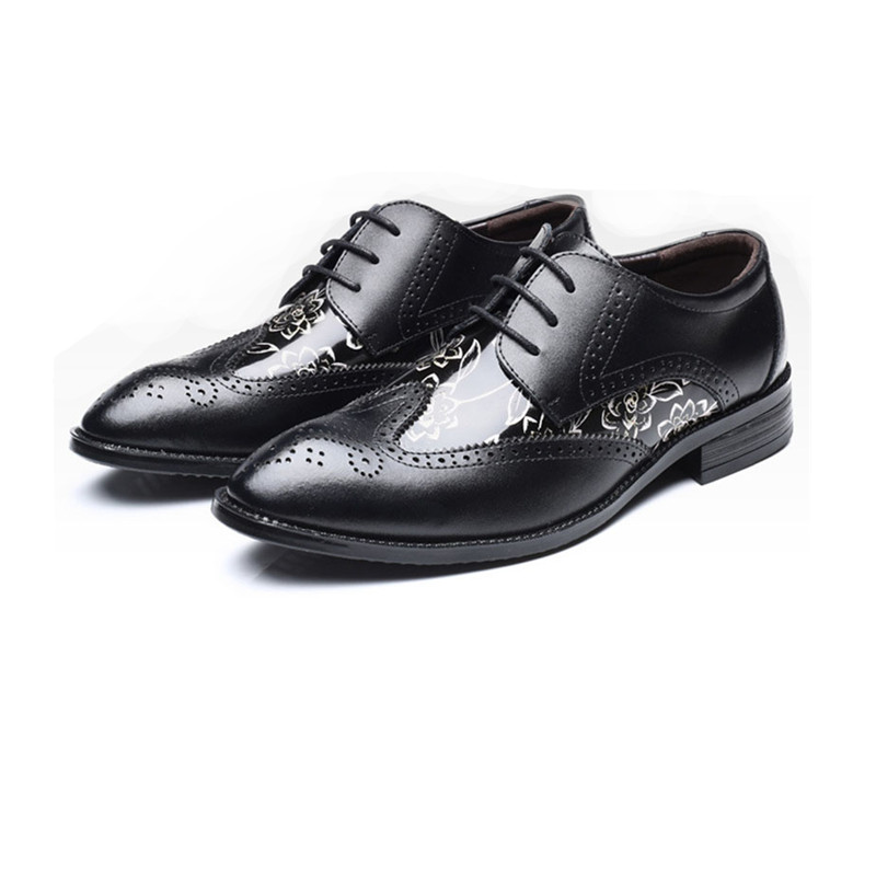 New arrive Fashion Mens Dress Office Lace-Up Leather Shoes Men's Casual Party Driving Oxfords Man Vintage Carved Brogue Flats northmarch men s leather lace up wedding flats luxury mens business office oxfords man dress shoes men sapatos social masculino