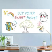 HOHOFILM 0.9x1.2m Whiteboard Sticker Whiteboard Film Surface for Walls,Doors,Tables,Chalkboards,Whiteboards,Sticky