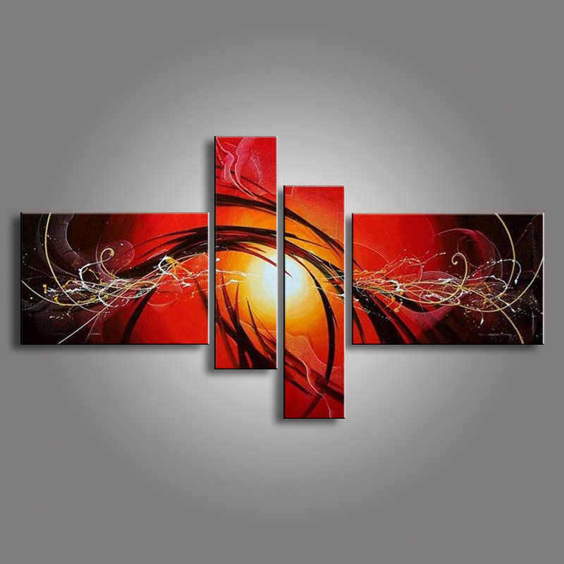oil paintings on canvas red black white home decoration Modern abstract Oil  Painting wall DY 134M|oil painting|modern abstract oil paintingpaintings on  canvas - AliExpress