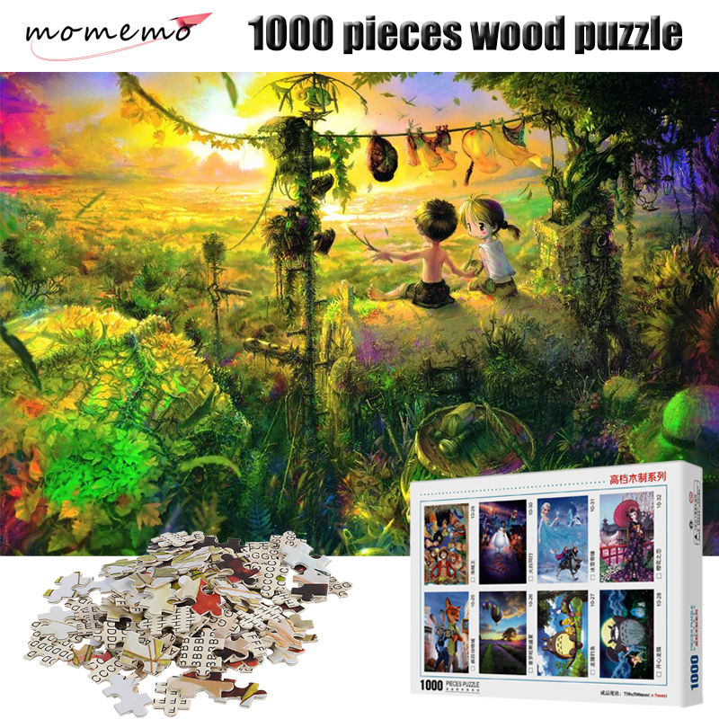 MOMEMO Childhood Wooden Puzzles Adult 1000 Pieces Jigsaw Puzzle Children Educational Toys Christmas Gifts Landscape