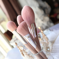 BBL 13pcs Pink Makeup Brushes Set Powder Blush Sculpting Brush Tapered Blender Highlighter Eyeshadow Smudger Make Up Brush Kits