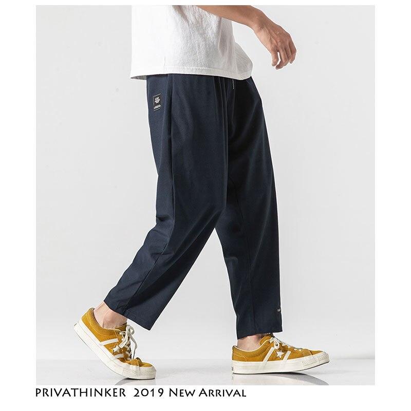 Privathinker Casual Streetwear Pant 2019 Summer Mens Sweatpants Comfortable Loose Pants New Fashion Clothe