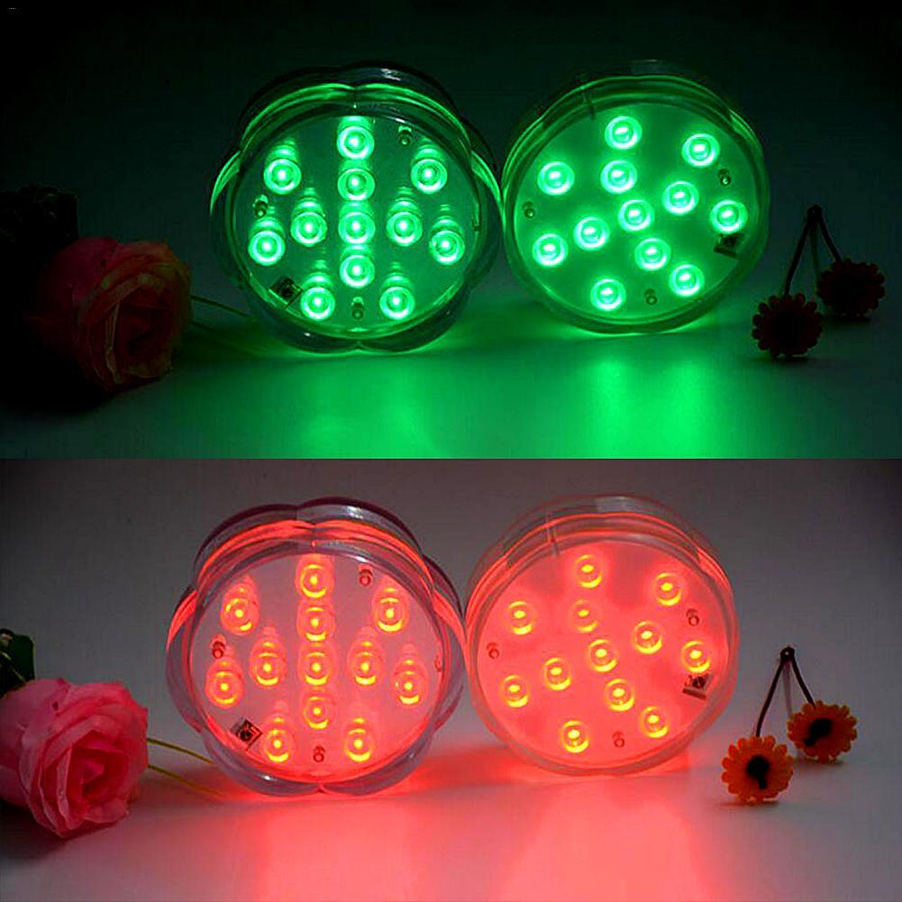 LED Large Plum Style Remote Control Dive Light Knob Remote Control Timing 12-light Candle Aquarium Light With Button Battery