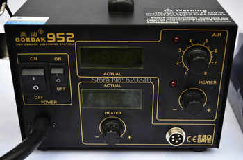 Gordak 952 SMD Rework Station Desoldering Station Hot Air Gun Heat Gun Electric iron 220v Free Shipping