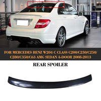 C Class Carbon Fiber Rear Roof Spoiler Window Wing for Mercedes Benz W204 Sedan 4 Door 2008 2013 Car Styling