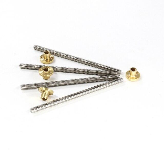 Vis à tête trapézoïdale Anet diamètre 8 MM 345mm/318mm vis à broche trapézoïdale avec écrou en cuivre vis à tête pour imprimante 3D 4 pièces