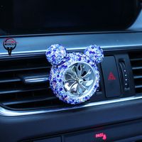 car air outlet Car-encrusted air outlet Air Force No. 8 diamond-encrusted air outlet perfume clip Car creative decoration (1)