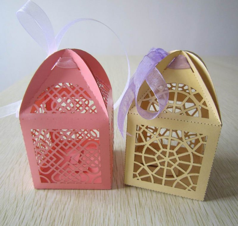 Laser Cut Custom Cupcake Boxes Wholesale Wedding Box Candy Filled Box  Walmart Christmas Decorations In Party Favors From Home U0026 Garden On  Aliexpress.com ...