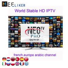 5pcs NEOTV PRO IPTV H265 1year Subscription Android tv box APK m3u Smart tv Arabic France Linux STB VOD English channels discout(China)