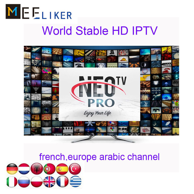 5pcs NEOTV PRO IPTV H265 1year Subscription Android tv box