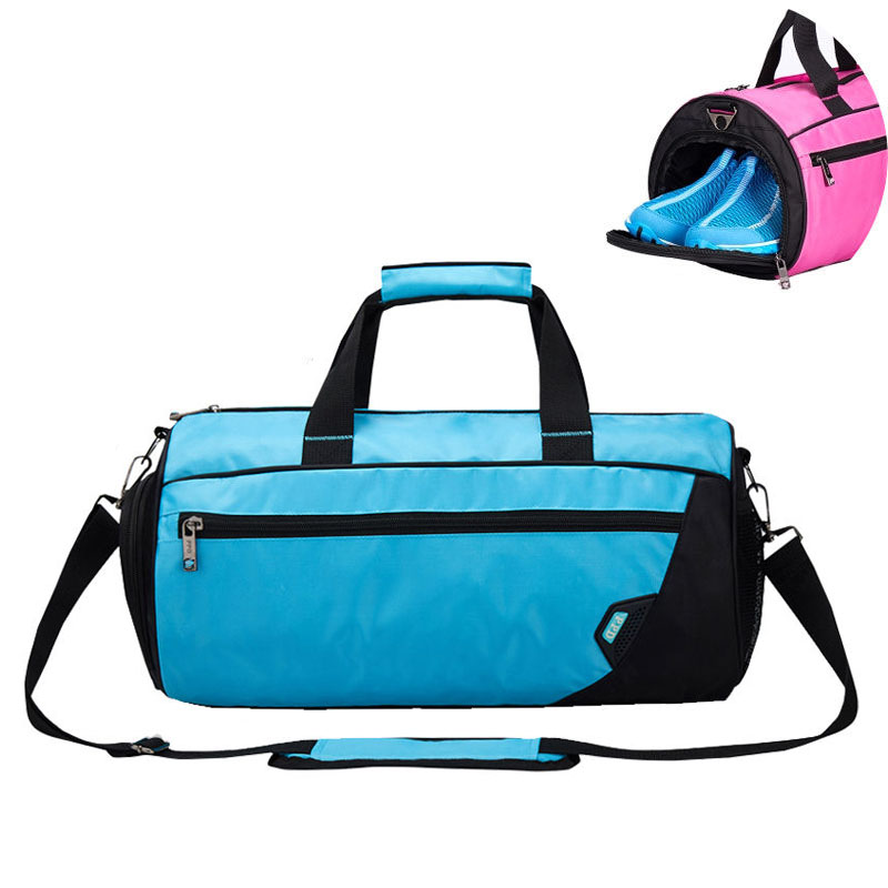 Waterproof Gym Bag Fitness Handbag Women Men Shoulder Bags Crossbody Travelling Luggage Shoes Storage Pocket Basketball XA299WA