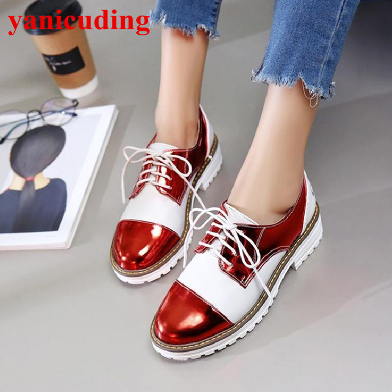 Hot Brand Fashion Outdoor School Students Shoes Round Toe Casual Shoes Lace Up Women Flats Mixed Color Low Top Shoes Size Plus causes for low achievement among school final students