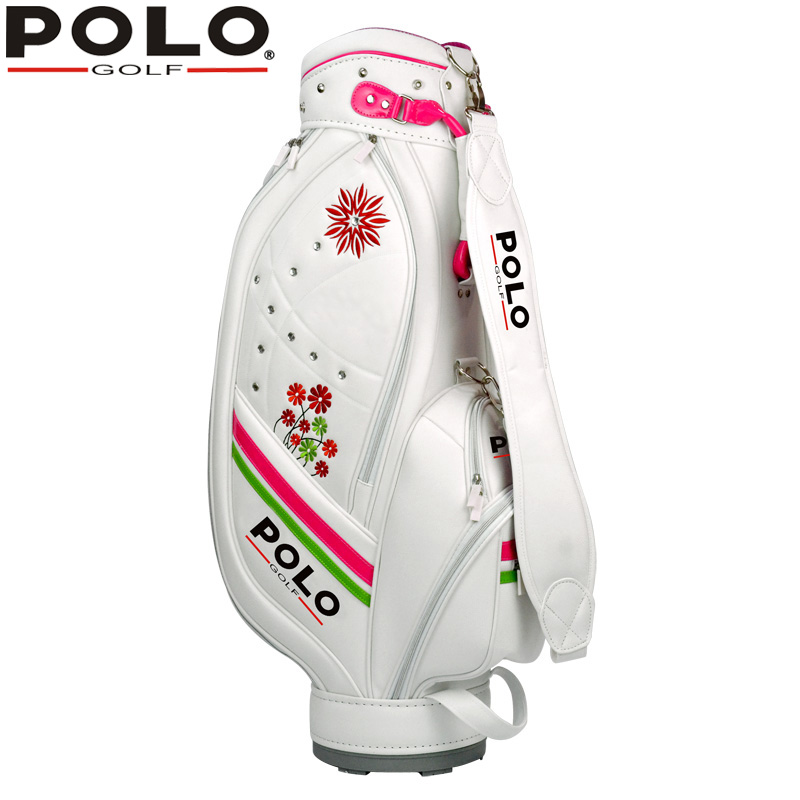 Brand POLO Sports Golf Ball Bag High Quality Lady Women Standard Ball Bags Lady Waterproof Leather PU Package Cart Caddy Bag golf ball sample display case