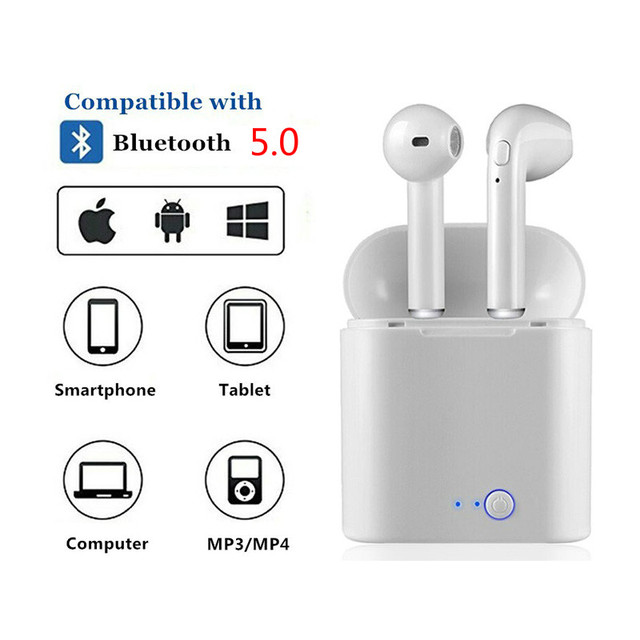 1 pair i7s tws Mini Bluetooth Earphone Wireless Earphones With Charge Box with mic For iphone