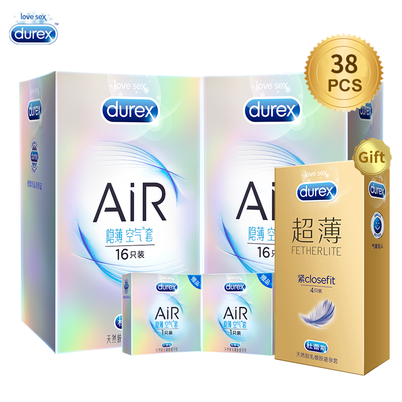 Durex AiR Condoms Invisible Ultra Thin Lubricated Condom for Man Natural Latex Penis Sleev