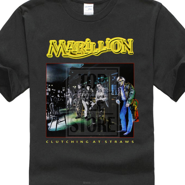 8800c53632c Marillion Clutching At Straws Black T Shirt Rare-in T-Shirts from ...