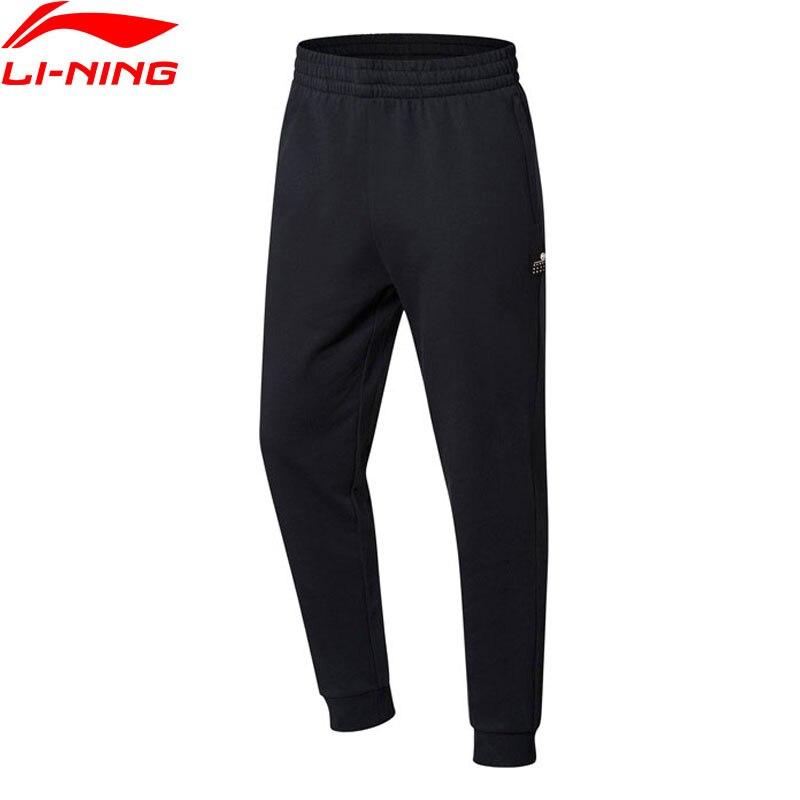 Li-Ning Men BAD FIVE Basketball Series Sweat Pants 100% Cotton Regular Fit LiNing Sports Pants AKLN125 MKY374