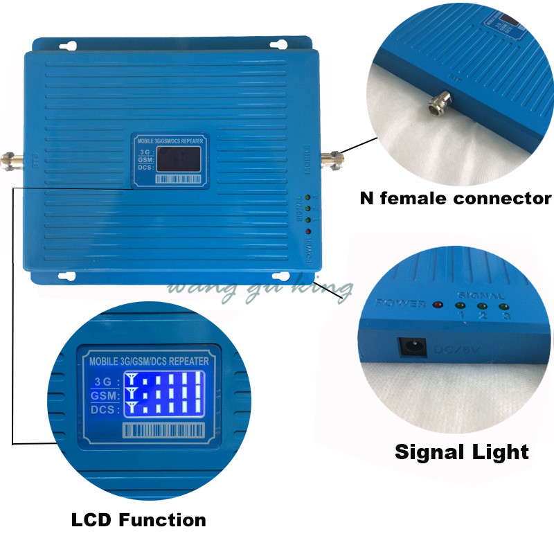 2G 3G 4G signal repeater GSM 900 WCDMA 2100 DCS 1800 Tri Band Mobile Phone Signal Booster 65dB Cellular Repeater 3G 4G Amplifier2G 3G 4G signal repeater GSM 900 WCDMA 2100 DCS 1800 Tri Band Mobile Phone Signal Booster 65dB Cellular Repeater 3G 4G Amplifier
