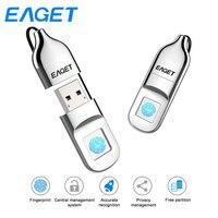Original Eaget FU5 USB Flash Drive 32GB 64GB Fingerprint Encryption Pen Drive 64GB encrypted Flash Drive Security USB Stick