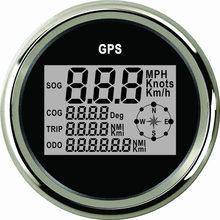 Лодочный Автомобиль 85 мм Цифровой GPS Спидометр Одометр 0-999 узлов км/ч миль/ч 12 В/24 В с подсветкой яхта сосуд мотоцикл
