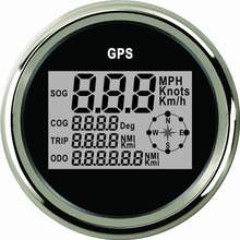 Odometer Boat Motorcycle 85mm Digital Knots Km/H Mph Car with Backlight Yacht Vessel