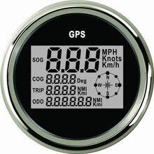 Boot Auto 85mm Digitale GPS Lcd computer geschwindigkeitsmesser grüne 0 999 knoten km/h mph 12V/24V mit Hintergrundbeleuchtung Yacht Schiff Motorrad