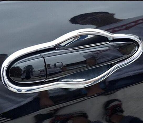 ABS Chrome Car Door protector handle Bowl panel cover trim for <font><b>Jeep</b></font> <font><b>Compass</b></font> 2017 <font><b>2018</b></font> <font><b>Accessories</b></font> image