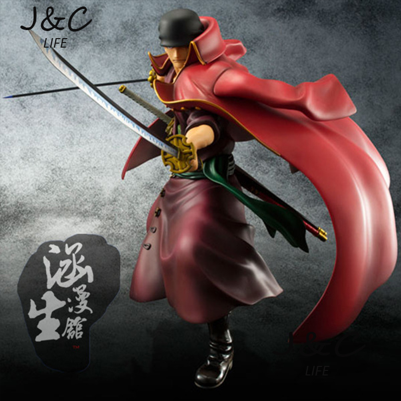 Free Shipping High quality Japanese Anime 23cm One piece Roronoa Zoro Action Figure Model Toys For