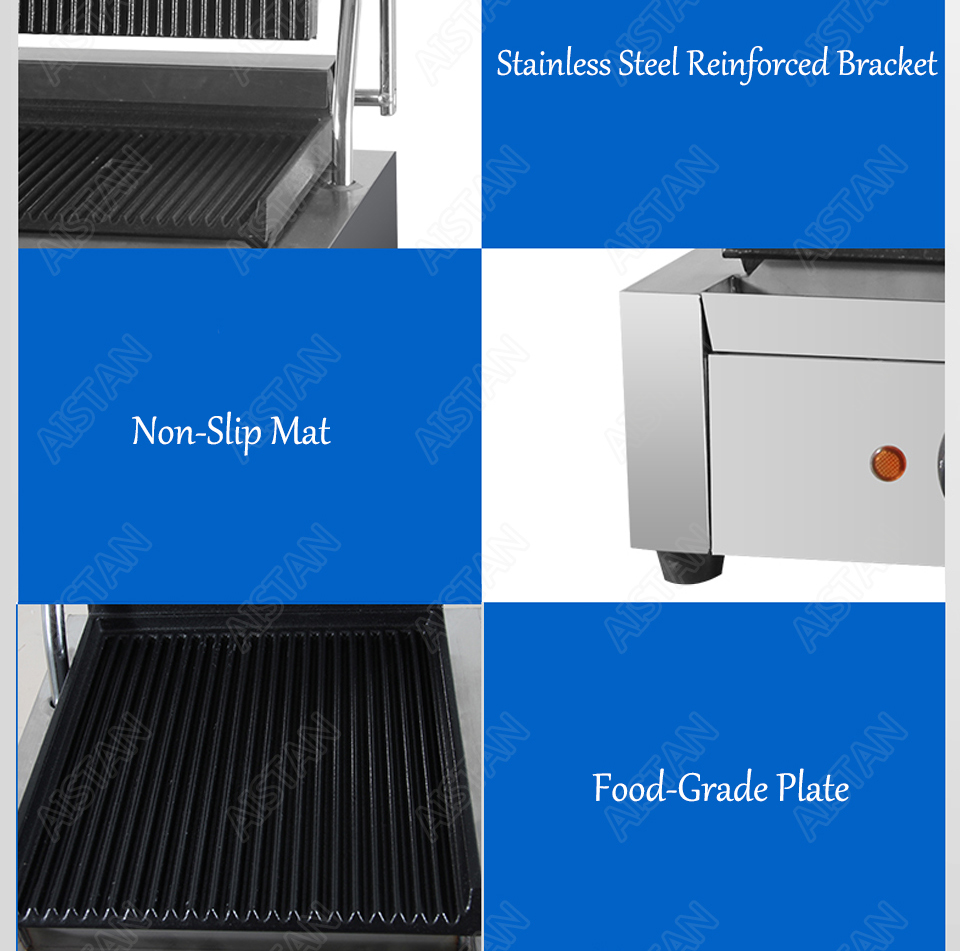 EG811/EG813/EG815 Single/Double Plate Commercial Electric Table Top Panini Grill Machine of Catering Equipment 12