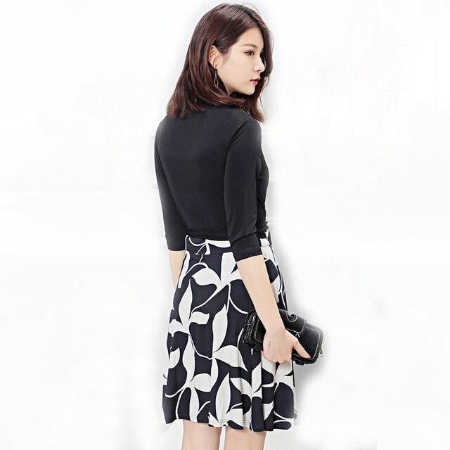 Michael Kors Wrap Dress Summer Women Black Floral Print Wrap Dress Ladies Office Dresses Robe Ete  2019 Femme