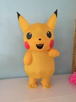 2017 Fun High Quality Inflatable Pikachu Clothing Pokemon Clothing Halloween Costumes For Women Sexy Girl Child