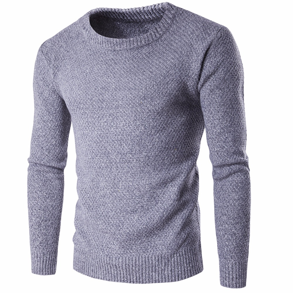 Solid Color Pullover Men O Neck Sweater Men Long Sleeve Shirt Mens Sweaters Wool Casual Dress Brand Cashmere Knitwear Pull Homme