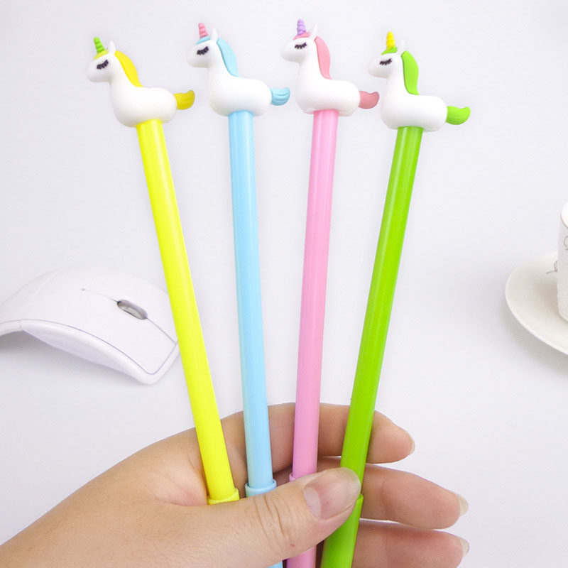 4 PCS Cute Candy Color Gel Pen Creative Unicorn Pens For Kids Writing Novelty Gift Kawaii Stationery Office School Supplies
