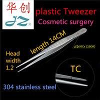 JZ medical eye Double fold eyelids instrument 304 Stainless steel Cosmetic Plastic Insert Tungsten steel TC tweezer surgery tool