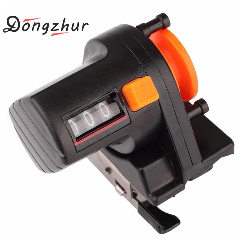 Dongzhur Fishing Line Counter Depth Finder Reel Meter Gauge Strong ABS Plastic 0-999m Digital Display Line Counter