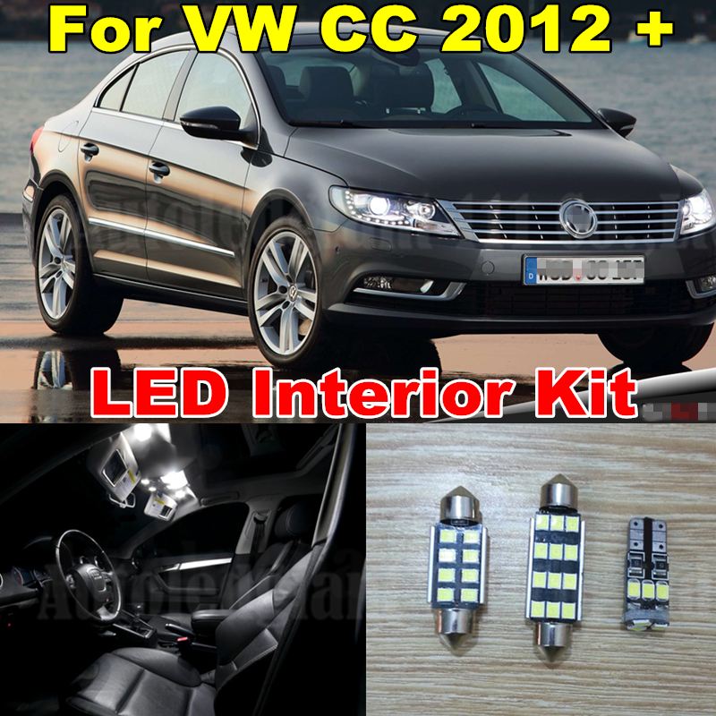 WLJH Pure White Error Free Canbus Vanity Dome Trunk Light Kit For Volkswagen VW CC Interior LED Light Package 2012-2015 11X car styling 13pcs excellent canbus led bulb interior dome map light kit package for volkswagen vw passat b6 2006 2010